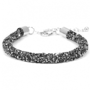 Armband Crystal diamond 7mm Black diamond-anthracite