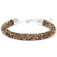 Armband Crystal diamond 8mm Greige-brons