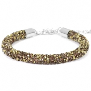Armband Crystal diamond 7mm Greige-brons