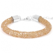 Armband Crystal diamond 8mm Smoked topaz