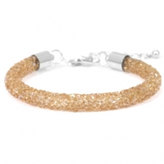 Armband Crystal diamond 7mm Smoked topaz