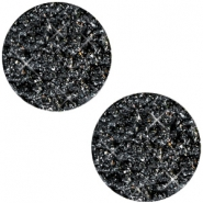 12mm flach Polaris Elements Cabochon Goldstein Black