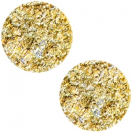 12mm flach Polaris Elements Cabochon Goldstein Sunflower yellow