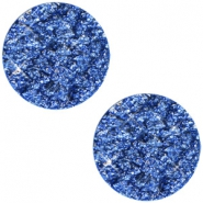 12mm flach Polaris Elements Cabochon Goldstein Cobalt sapphire blue
