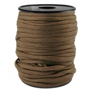 Trendy kordel rund Paracord 4 mm Dark brown