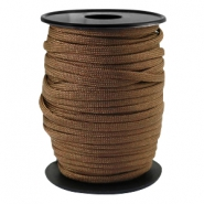 Trendy kordel rund Paracord 4 mm Dark bronze brown