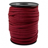 Trendy kordel rund Paracord 4 mm Aubergine red