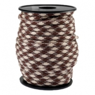 Trendy kordel rund Paracord 4 mm Beige-warm brown