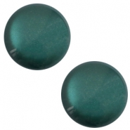 12 mm classic Polaris Elements sanft Töne shiny Cabochon Deep lake teal blue