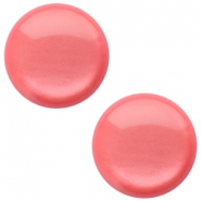 12 mm classic Polaris Elements sanft Töne shiny Cabochon Peachy coral pink