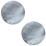 12 mm flach Polaris Elements Mosso shiny Cabochon Rustic blue