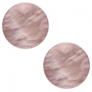 12 mm flach Polaris Elements Mosso shiny Cabochon Taupe brown
