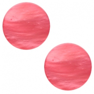 12 mm flach Polaris Elements Mosso shiny Cabochon Peachy coral pink