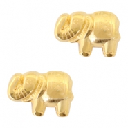 Perlen Metall DQ Elefant 13x9mm Gold (nickelfrei)