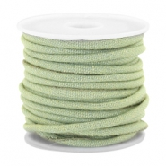 Trendy Kordel Denim 4x3mm gesteppt Light green