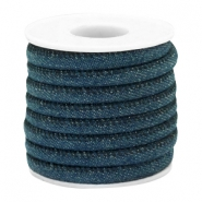 Trendy Kordel Denim 6x4mm gesteppt Dark royal blue