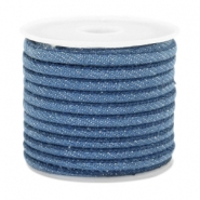 Trendy Kordel Denim 4x3mm gesteppt Regular blue