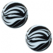 12 mm flach Polaris Elements Cabochon Zebra Powder blue