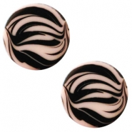 12 mm flach Polaris Elements Cabochon Zebra Light vintage rose