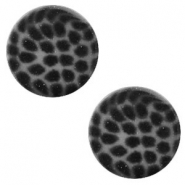12 mm flach Polaris Elements Cabochon Leopard Silver night