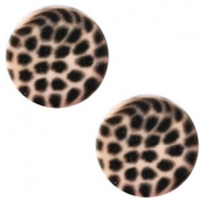 12 mm flach Polaris Elements Cabochon Leopard Light vintage rose