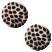 12 mm flach Polaris Elements Cabochon Leopard Rosa pink