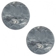 12 mm flach Polaris Elements Cabochon Stone Look Ocean grey