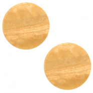 12 mm flach Polaris Elements Cabochon Stone Look Light cognac brown