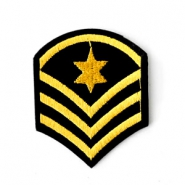 Fashion Patches Army Sign Schwarz-gold