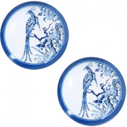 Cabochons Basic Delfts blau Pfau 20mm White-blue