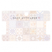 "Karten für Schmuck ""made with love"" Tile Print Multicolour rose peach"