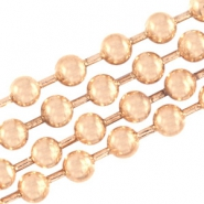 Ballchain DQ 2mm DQ rose vergoldet