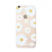 Telefonhüllen für iPhone 5 Daisies Transparent-white yellow