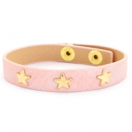 Armband Reptile mit Nieten gold Stern Dusty pink