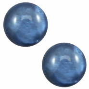 12 mm classic Polaris Elements Cabochon pearl shine Night blue