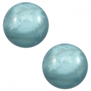 12 mm classic Polaris Elements Cabochon pearl shine Dark sea blue