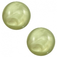 12 mm classic Polaris Elements Cabochon pearl shine Salvia green