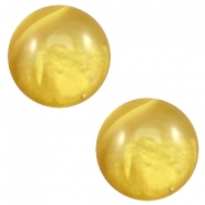 12 mm classic Polaris Elements Cabochon pearl shine Spicy mustard green