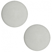 12 mm flach Polaris Elements Cabochons matt Light cloudy grey