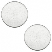 12 mm flach Super Polaris Cabochon Light cloudy grey
