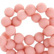8 mm Perlen aus Acryl Matt Light shell pink