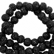 Sparkle beads 6mm Black