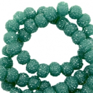 Sparkle beads 8mm Vintage green