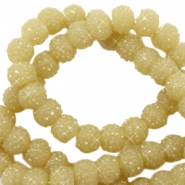 Sparkle beads 6mm Mustard green