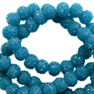Sparkle beads 8mm Teal blue
