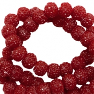 Sparkle beads 6mm Dark red