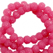 Sparkle beads 6mm Vintage fuchsia