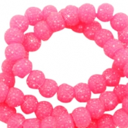 Sparkle beads 6mm Candy pink