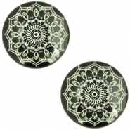 Cabochons Basic Mandala 12mm Deep black