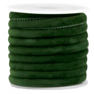 Trendy Velvet Kordel gesteppt 6x4mm Dark green